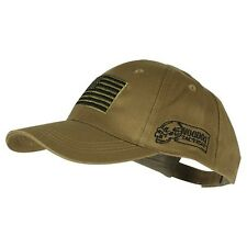 Voodoo Tactical Hunting Cap with US Flag Fully Adjustable Coyote 20-9353