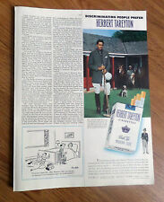 1950 Herbert Tareyton Cigarette Ad Peter Perkins     8 Goal Polo Player