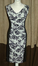 Brand New Phase Eight / 8 Rosemary Illusion rose wiggle dress Size 16