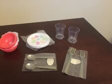 American Girl Gourmet Kitchen plates bowls cups fork spoon dinner set ONLY NEW