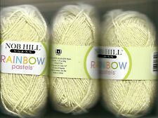 3 SKEINS Yellow Yarn NOB HILL RANBOW SHIMMER Pastels-very SOFT-new-never-used