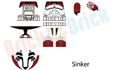 Lego Star Wars Clone Sinker from Wolfpack Custom Water Slide Decal