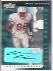chris chambers rc rookie draft auto autograph wisconsin badgers college 2001
