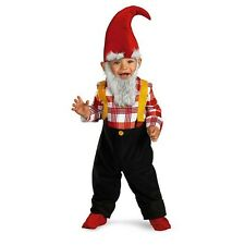 Disguise Garden Gnome Halloween Costume Infant Baby Boy Size 12-18 Months NEW