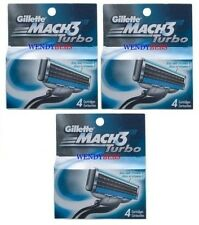 3X4=12PCS GENUINE GILLETTE MACH 3 M3 TURBO SHAVING RAZOR CARTRIDGES BLADES *****