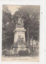 Melun Monument Des Mobiles 1908 France Postcard 709a