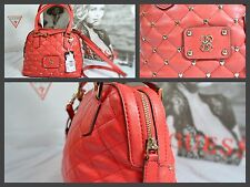 GUESS current Dj Quilt Amour Studded Dome Satchel Bag Red HWVG4657050