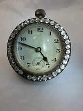 Large RARE French Watch Round Ball Glass with Crystal Stones approx 1860sReduced