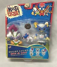 MUCHA LUCHA FIGURES - Buena Girl, Dog, & Penny Plutonium Mix A Lot