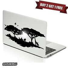 Macbook Air Pro Vinyl Skin Sticker Decal Nature Africa Jungle Wild Animal m681