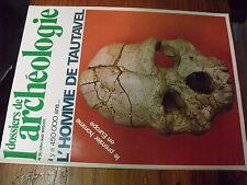 µ?. Revue Dossiers de l'Archeologie n°36 Il y a 450 000 ans L'homme de Tautavel