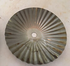 "4 1/2"" STAMPED STEEL RIBBED BOBECHE-raw unfinished steel"