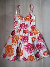 Hollister by Abercrombie Floral Logo Summer Sun Dress Cute Pretty XS S M