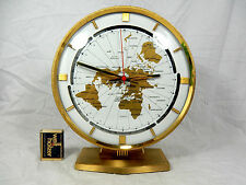 Grosse KUNDO  Weltzeituhr Tisch Uhr world timer  table clock  working condition