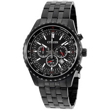 Citizen Black Dial Black Stainless Steel Men's Watch AN806553E