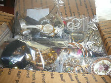 HUGE JUNK DRAWER LOT-OVER 12 LBS-JEWELRY-WATCHES-PARTS-TANGLED-BROKEN-CRAFTING