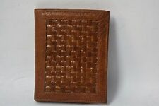 NEW Vintage GARY' OF CALIFORNIA Basket weave brown money clip Wallet BI-FOLD