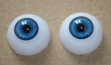 22 mm Reborn Baby dolls eyes Blue Half Round Acrylic Eyes for newborn Babies