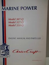 MARINE POWER  Model 307Q  Model 327Q Model 350Q Engine Manual and Parts List