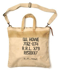 POLO RALPH LAUREN RRL TWO-TONE GREIGE GRAY BEIGE MILITARY CANVAS TOTE BAG $265