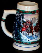 Vintage 1993 BUDWEISER CLYDESDALE Holiday STONEWARE STEIN Beer Mug CERAMARTE