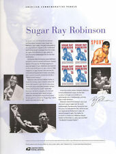 #760 39c Sugar Ray Robinson #4020 USPS Commemorative Stamp Panel