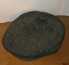STETSON 8 panel donegal wool tweed style Ivy gatsby Cabbie Cap Hat New XL brown