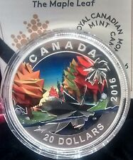 Maple Leaf $20 2016 1oz Pure Silver Proof Coin Geometry Art Canada.