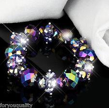 Color Lila AB Brillante Grandes Cuentas De Cristal De Moda Pulsera Para Mujer Chica
