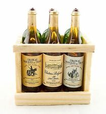 Box Set 6 Champagne Bottle Wine Wood Rack 1:6 Doll's House Dollhouse Miniature