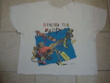 Vintage 80's Where's The Party Dinosaur Primal Screams Gym bodybuilder Shirt XL