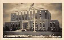 Hope Arkansas birds eye view Hempstead Co Court House real photo pc Z12581