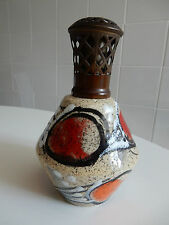 BERGERE LAMPE LAMPE  RARE ART POTTERY FINISH  VGC NO CHIPS OR CRACKS