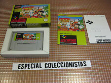 SNES GOOF TROOP PAL ESPAÑA COMPLETO SUPER NINTENDO CAPCOM