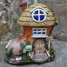 Cobblers Boot Fairy Door House With LED Lights Garden Ornament Christmas 39203