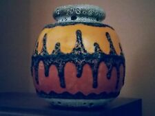 Vintage 1970's German Fat Lava Glaze Art Pottery Vase Atomic Retro Age
