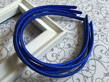 5 Pcs Royal Blue Satin Skinny Headband-Hair accessory-Soft-Daily Wear-Shiny