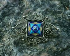 David Andersen Rare Antique Norwegian Jewelry Sterling Silver and Enamel Brooch