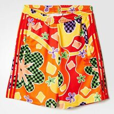 adidas Originals X Jeremy Scott Floral Summer Fashion Shorts Mens Size Small