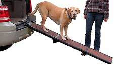 Folding Dog Ramp Tri-Fold Pet Ramps for SUV Cars Travel Portable Light Weight