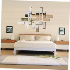 Square Mirror Wall Stickers Stereoscopic Wallpaper Room Decoration Background CN