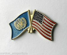 UNITED NATIONS NATIONAL COMBO WORLD FLAG LAPEL PIN BADGE 1 INCH
