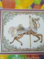 Carousel Horse Pattern  Just Cross Stitch Book Teresa Wentzler Spring Leaflet 2