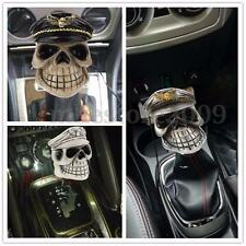 Universal Skull Head Hat Car Truck Manual Stick Gear Shift Knob Shifter Lever
