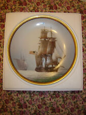 Great Ships Of Golden Age Of Sail U.S.S. CONSTITUTION Gold Rim Boxed/Certificate