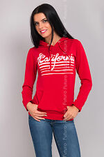 Women's Hoodie California Print Long Sleeve Jumper Sweatshirt Top Size 8-12 8396