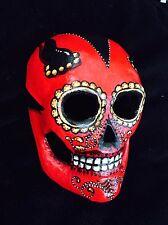 Devil El Diablo Sugar Skull Mask Day Of The Dead Dia De Los Muertos Hand Painted