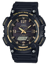 Casio AQS810W-1A3 Men's Black Solar Analog Digital World Time Sports Watch