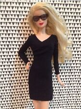 Vintage Classical Little Black Evening Dress outfit clothes For Barbie Doll 002