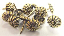 100 pcs Antique Gold Rosette Floral Head Decorative Tack Nail Stud  Upholstery